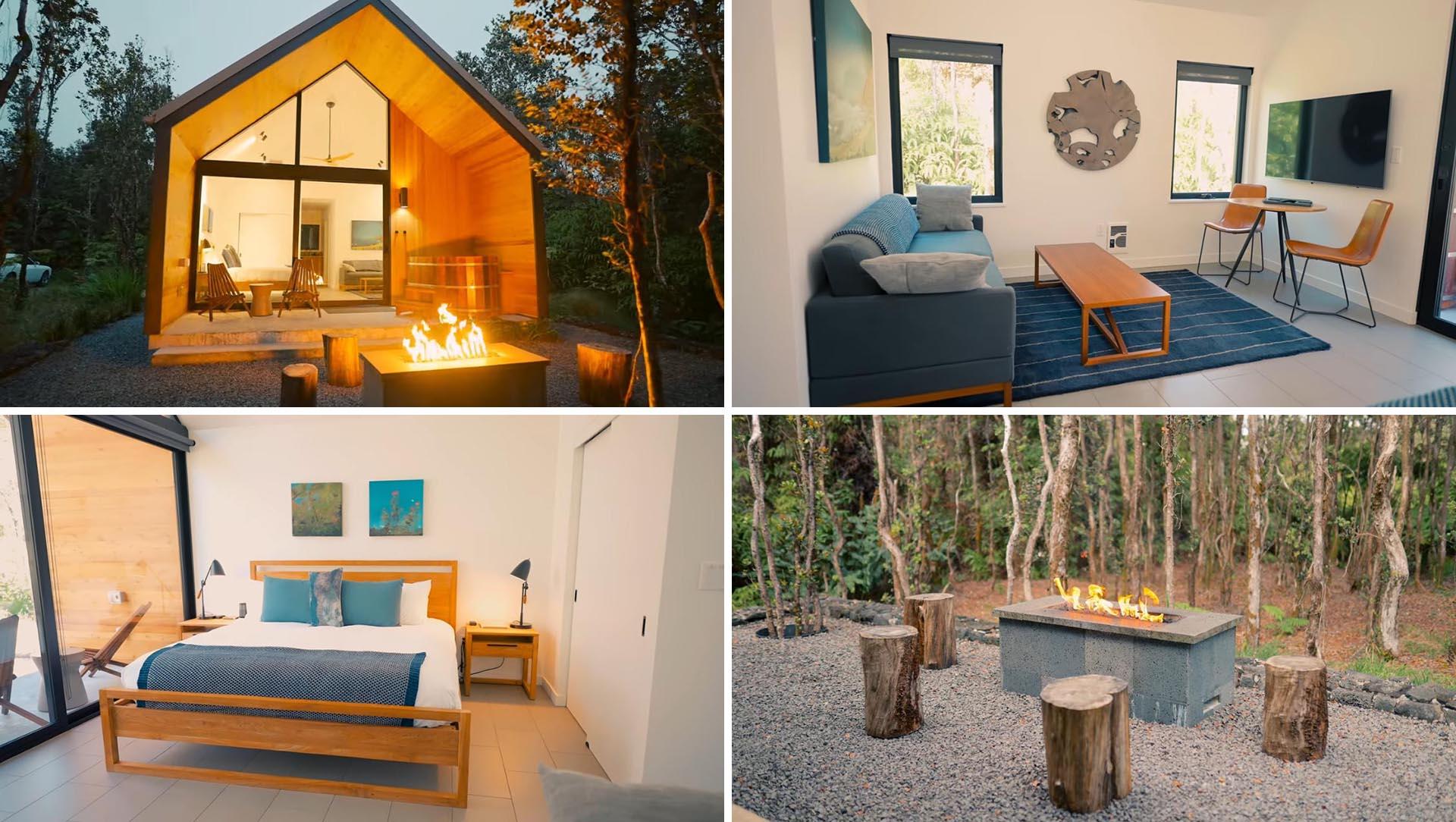 Dieses moderne winzige Haus, umgeben von einem Wald auf Hawaii, ist ein überraschender Fund »