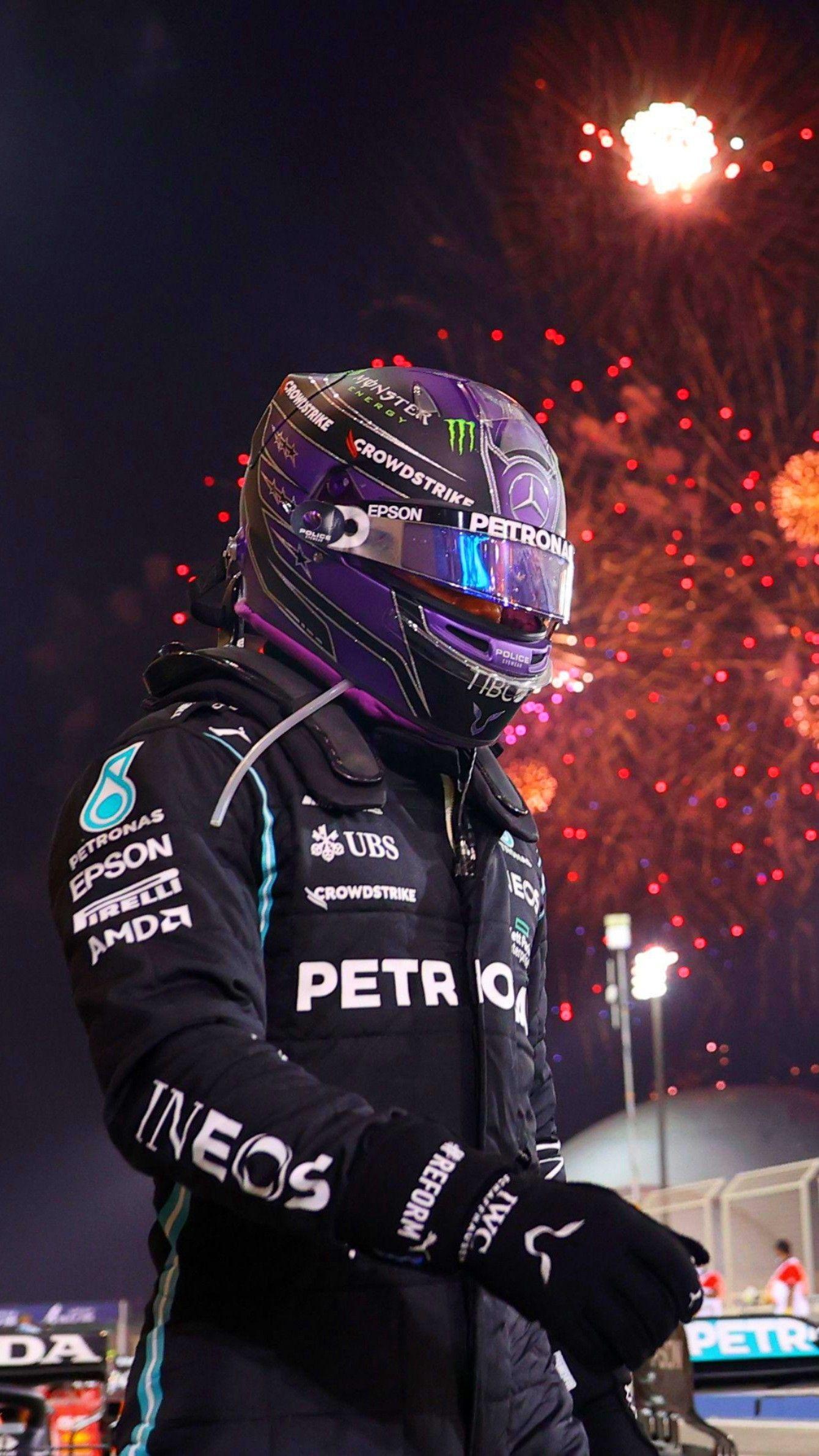 F1 Lewis Hamilton Bahrain GP win Wallpaper