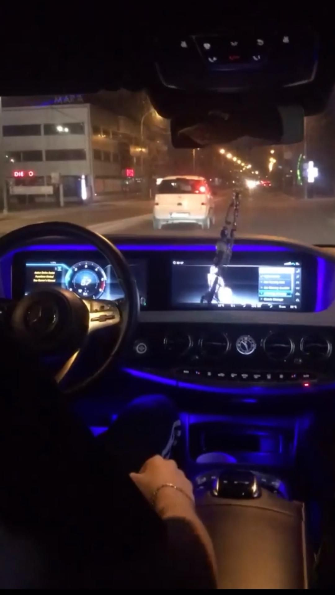 Mercedes Benz S Class    Night Ride    Snapchat    Luxury Cars